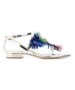 Monique Lhuillier | Multicoloured Embellishment Low Sandals