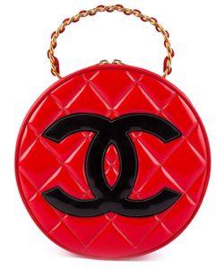 Chanel Vintage | Круглая Сумка-Тоут С Лакированным Покрытием