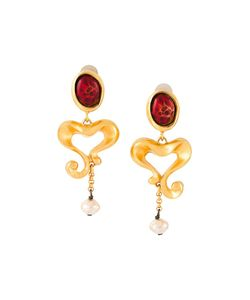 CHRISTIAN LACROIX VINTAGE | Baroque Heart Clip-On Earrings