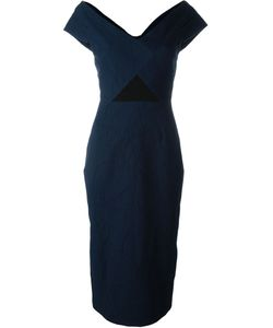 Roland Mouret | Textured Fitted Rear Slit Dress