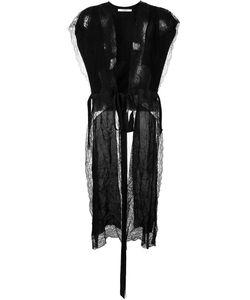 Givenchy | Удлиненный Топ С Кружевными Панелями