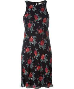 Saint Laurent   Платье Шифт С Принтом Роз