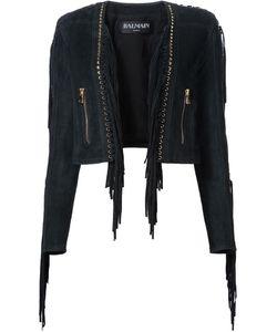 Balmain | Укороченная Куртка С Бахромой