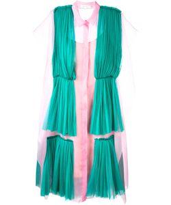 Delpozo | Плиссированное Платье-Рубашка