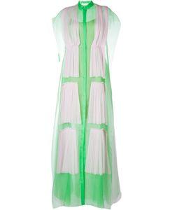 Delpozo | Платье-Рубашка С Плиссированным Слоем