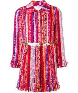 Giada Benincasa | Тканое Пальто С Бахромой