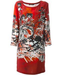 Roberto Cavalli | Платье Шифт С Цветочным Принтом