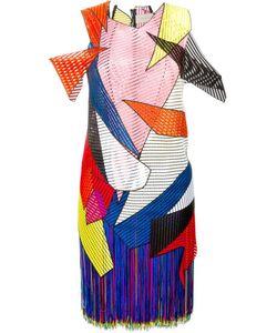 Christopher Kane   Платье С Геометрическими Панелями