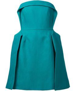 Delpozo | Плиссированное Платье Без Бретелек