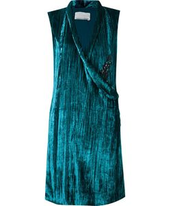 EMANNUELLE JUNQUEIRA | Velvet Sleeveless Dress