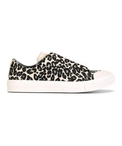 Alexander McQueen | Animal Print Low Sneakers 39 Leather/Rubber