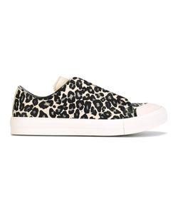 Alexander McQueen | Animal Print Low Sneakers 39 Leather/Rubber