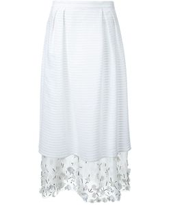 Mother Of Pearl | Embellished Layered Skirt