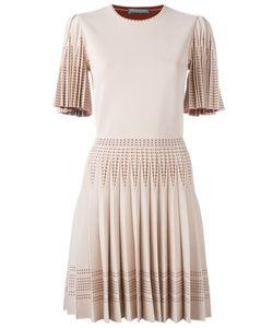 Alexander McQueen | Плиссированное Трикотажное Платье