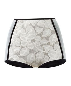 EMANNUELLE JUNQUEIRA | Panelled Lace Hot Pants