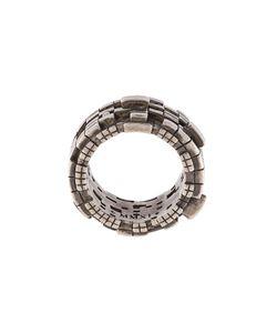 JOHN BREVARD | Undulating Cube Diamond Ring