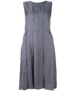 'S Max Mara | Square Print Pleated Dress 40