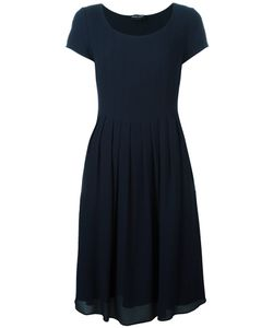 Giorgio Armani | Pleated Trim Fla Dress 46 Viscose/Polyester