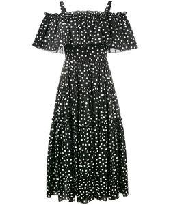 Dolce & Gabbana   Off-Shoulder Polka-Dot Dress 42 Cotton/Spandex/Elastane