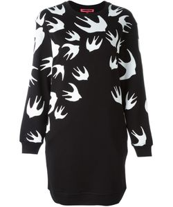 Mcq Alexander Mcqueen | Платье-Толстовка С Принтом Swallow Swarm
