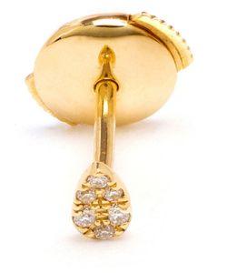 YVONNE LEON | Yvonne Léon 18kt And Pavé Diamond Stud Earring