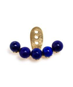 YVONNE LEON | Yvonne Léon 18kt And Lapis Lazuli Lobe Earring