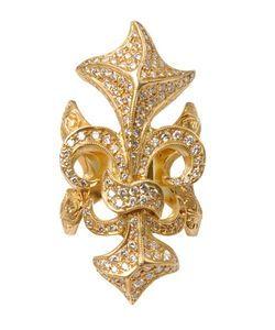 LOREE RODKIN | Fleur De Lis Ring With Diamonds