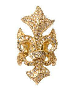 LOREE RODKIN | Fleur De Lis Ring With Diamonds