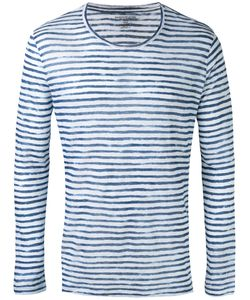MAJESTIC FILATURES   Striped Long Sleeve T-Shirt Size Medium