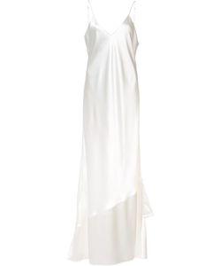 RYAN ROCHE   Ruffled Detail Gown 4 Silk