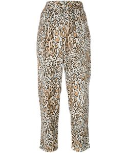 Raquel Allegra | Leopard Print Cropped Trousers