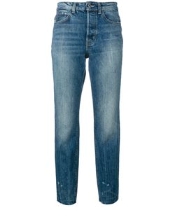 Helmut Lang | Distressed Cropped Jeans