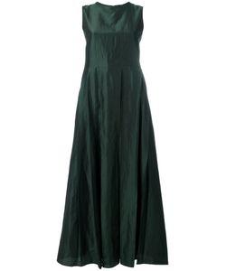 Max Mara | Pleated Maxi Dress 38 Silk/Linen/Flax/Viscose