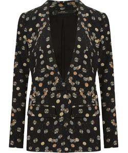 ANDREA MARQUES | Open Front Printed Blazer