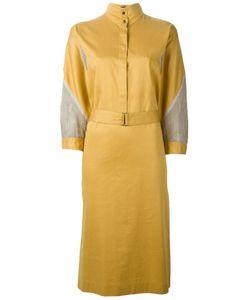 LOUIS FERAUD VINTAGE | Платье-Рубашка С Сетчатыми Вставками
