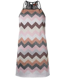 Missoni | Flitter Effect Zig-Zag Dress 38 Polyester/Cupro/Viscose