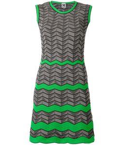 Missoni | Geometric Pattern Knitted Dress 40 Polyester/Cotton/Polyamide