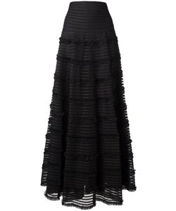 Givenchy | Ruffle Trim Fla Skirt 36 Polyamide/Cotton/Viscose/Polyester