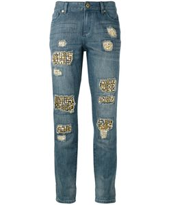 Michael Michael Kors | Distressed Embellished Jeans Size 6