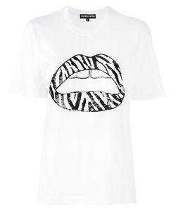 Markus Lupfer | Sequin Zebra Lip Alex T-Shirt Size Xs