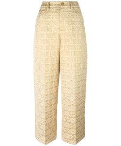Red Valentino | Jacquard Cropped Trousers 42 Cotton/Polyester/Other Fibers/Polyester