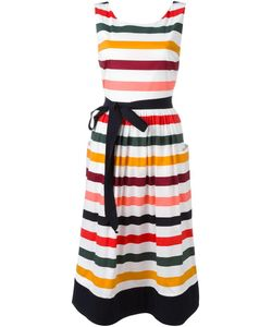 Carolina Herrera | Striped Day Dress 4 Cotton/Spandex/Elastane