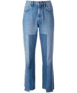 Mih Jeans   Укороченные Асимметричные Джинсы