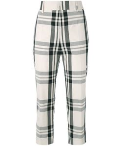 Sofie D'Hoore   Check Cropped Trousers Size 34