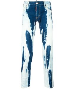 Dsquared2 | Clement Bleached Jeans 46 Cotton/Spandex/Elastane/Polyester
