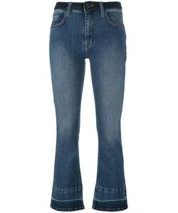Victoria, Victoria Beckham | Victoria Victoria Beckham Cropped Flare Jeans 29 Cotton/Polyester/Spandex/Elastane