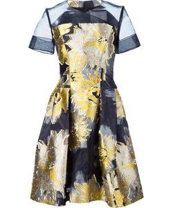 Carolina Herrera | Жаккардовое Мини-Платье С Цветочным Принтом