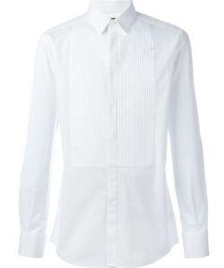 Dolce & Gabbana | Рубашка С Плиссированным Нагрудником