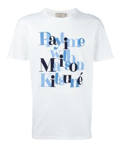 Maison Kitsune | Maison Kitsuné Slogan Logo T-Shirt Small Cotton
