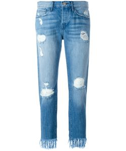 3X1   Frayed Cropped Jeans 27 Cotton